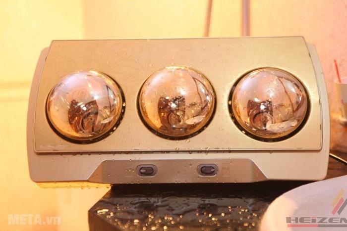 Đèn sưởi nhà tắm 3 bóng có điều khiển Heizen HE3BR