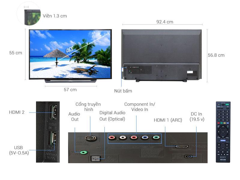 Tivi Sony 40 inch KDL-40R350C
