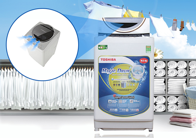 Máy giặt Toshiba 10.5 kg ME1150GV(WK)