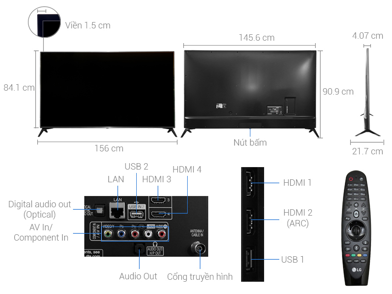 Smart Tivi LG 65 inch 65UJ652T