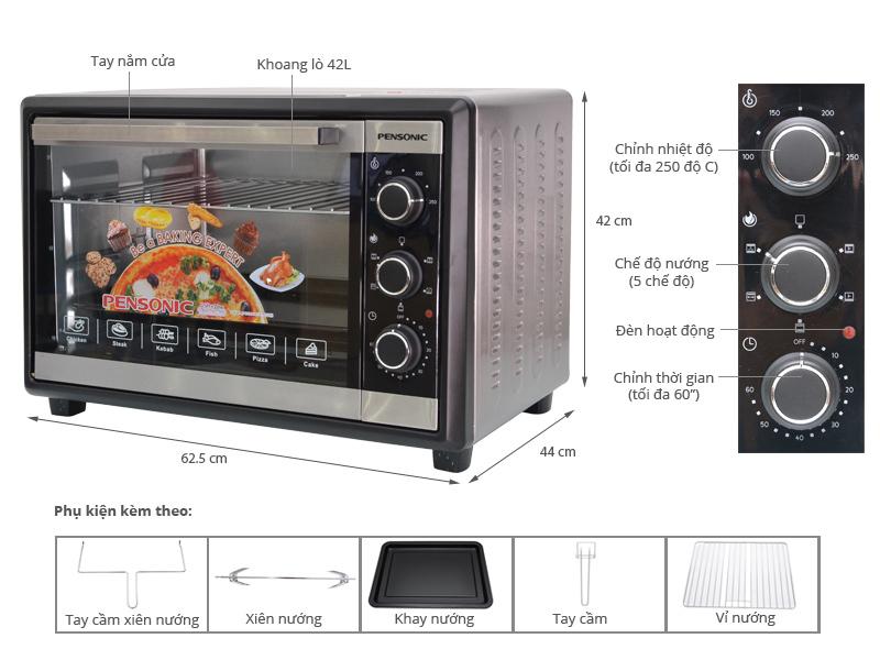 Lò nướng PensonicPEO-4200 42 lít