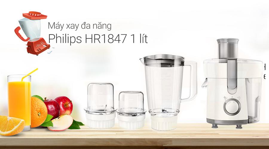 Máy xay đa năng Philips HR1847