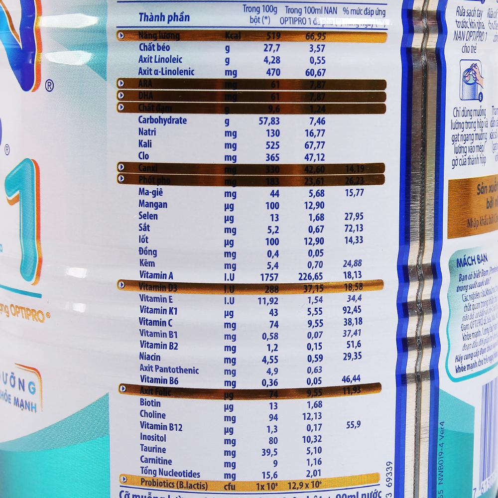 Sữa bột Nan Pro 1 400g (0 - 6 tháng)