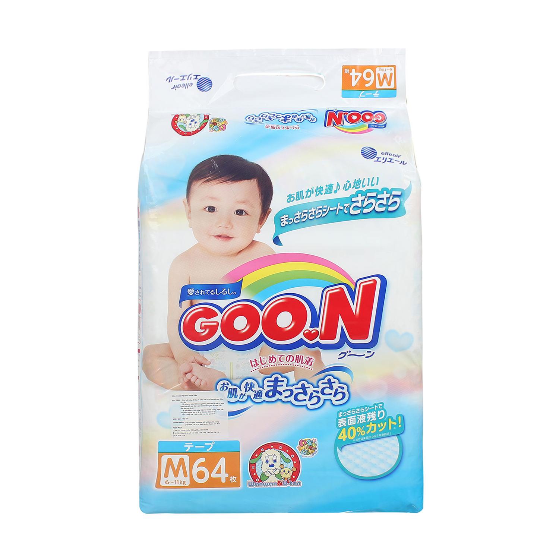 Bỉm - Tã dán Goon size M 64 miếng nội địa (cho bé 6-11kg)