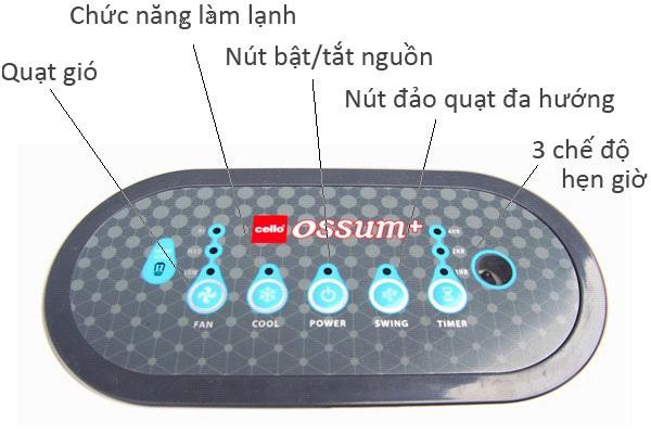 Máy làm mát không khí CELLO Ossum
