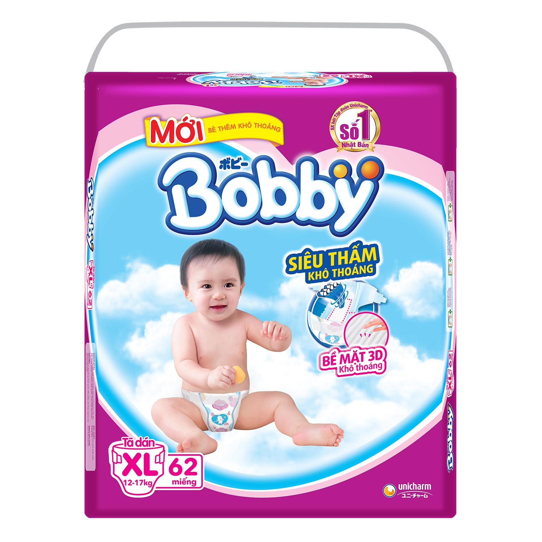 Tã dán Bobby siêu mỏng size XL 62 miếng