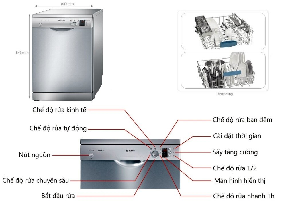 Nơi bán Máy rửa bát Bosch SMS25KI00E giá rẻ nhất tháng 09/2021