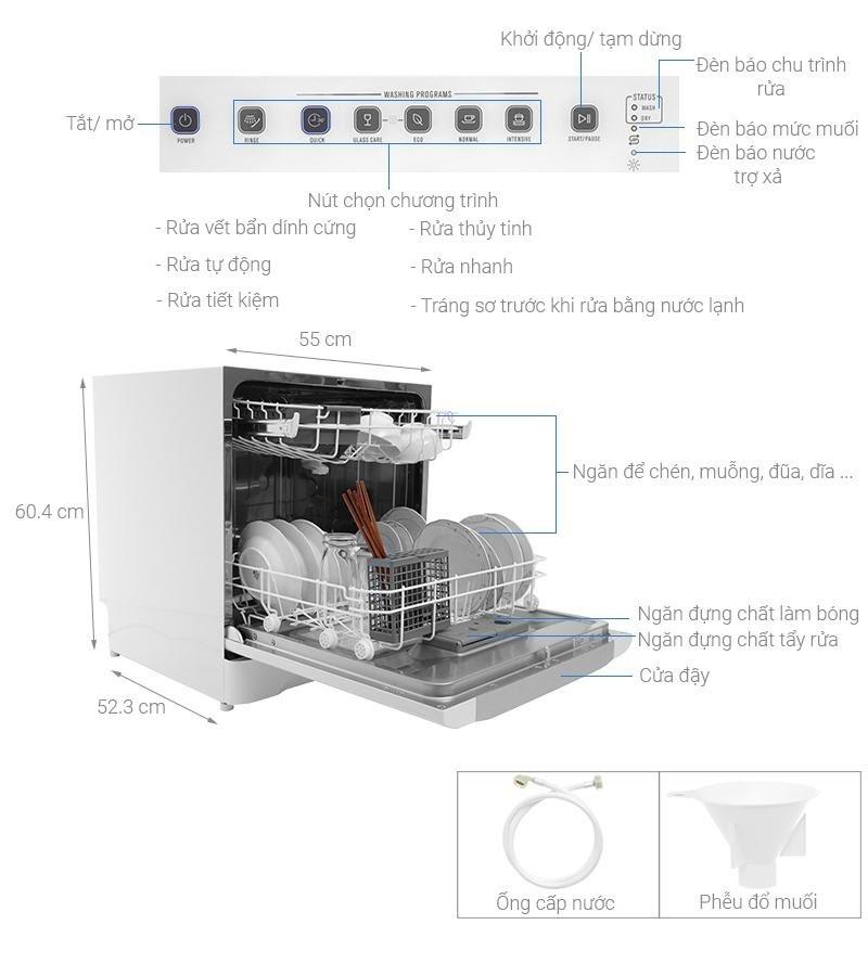 Lưu ý khi sử dụng máy rửa bát Electrolux ESF6010BW