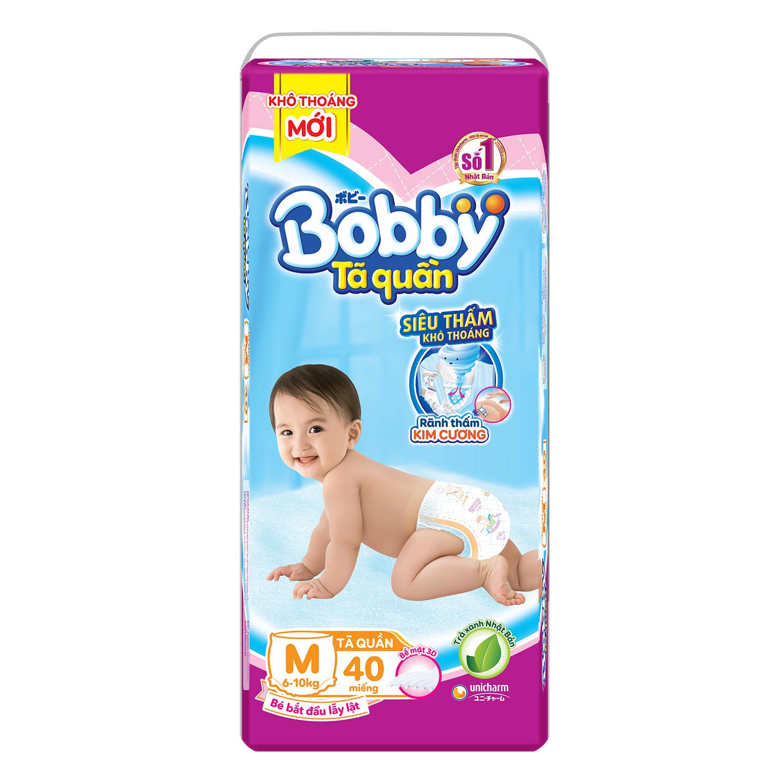 Bỉm - Tã quần Bobby size M 40 miếng (cho bé 6 - 10kg)