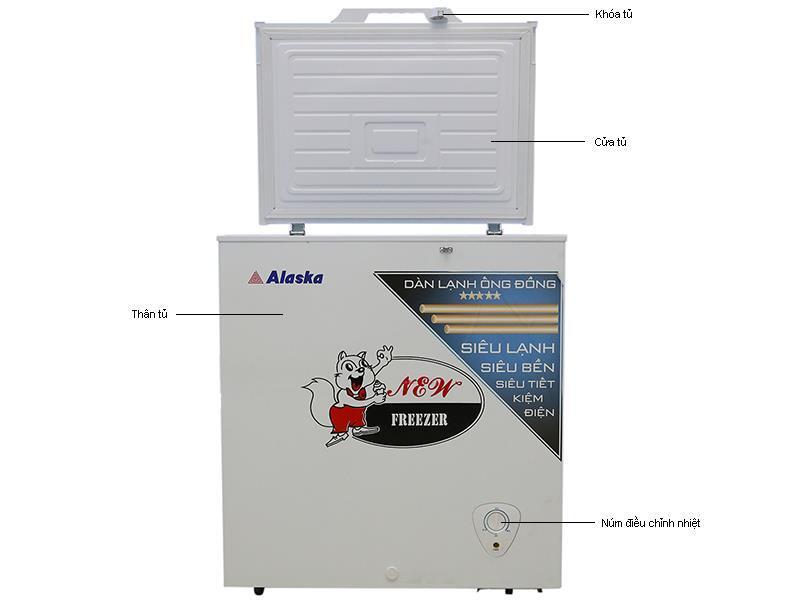 Tủ đông Alaska BD-200C - 200L, 1 ngăn đông