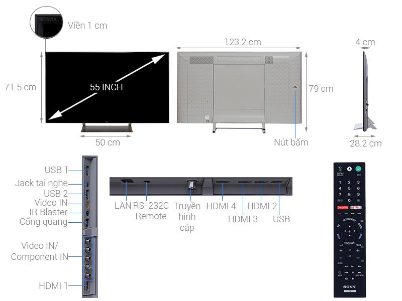 Smart Tivi Sony 4K 55 inch KD-55X9300E