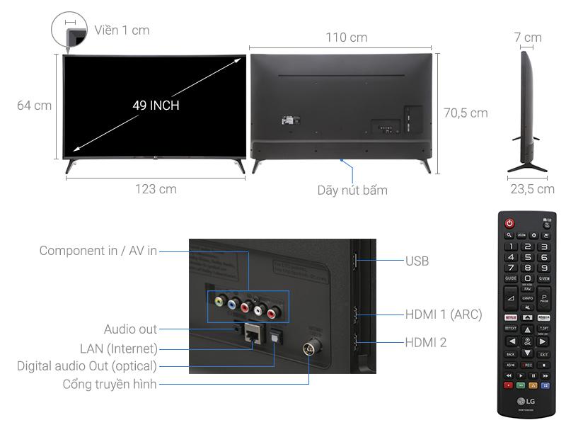Smart Tivi LG 49 inch 49LJ553T