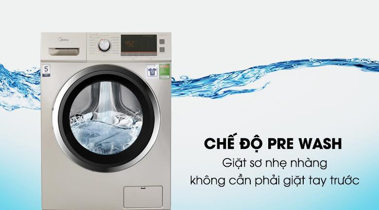 Máy giặt 9 kg Midea MFC90-D1401 Sấy 6kg Giặt nước nóng