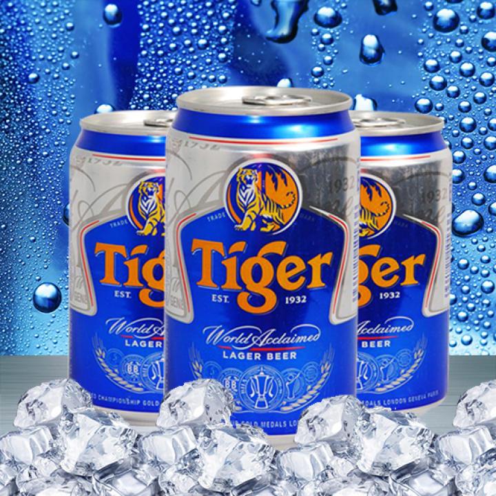 Bia Tiger thùng 24 lon x 330ml