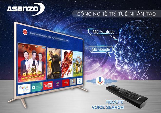 Smart Tivi Asanzo 40 inch 40VS9 Full HD, Android TV