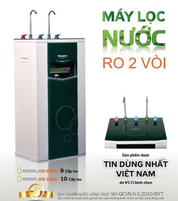 Máy lọc nước vỏ VTU Kangaroo 10 cấp KG10A3 VTU