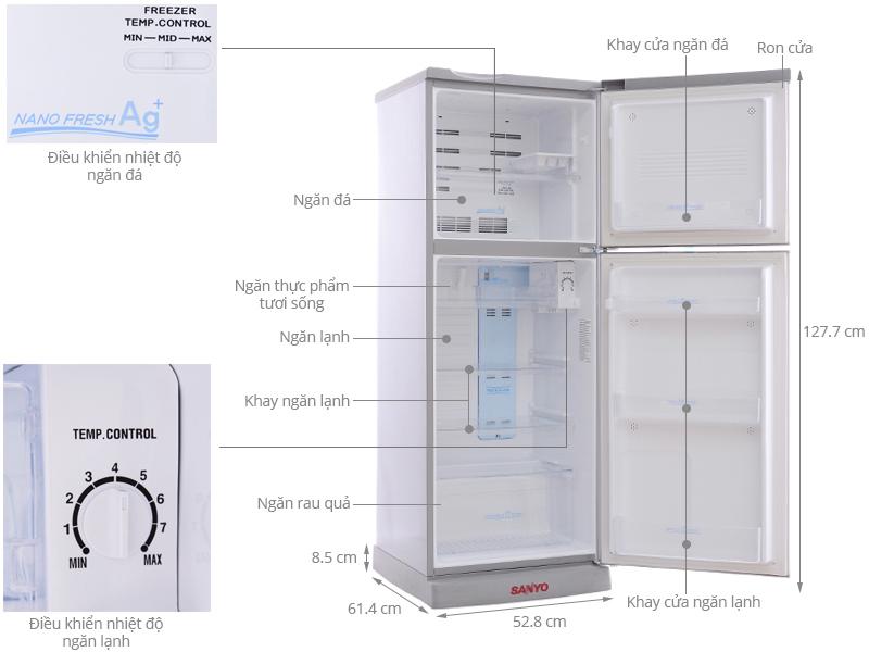 Tủ lạnh Sanyo 165 lít SR-S185PN