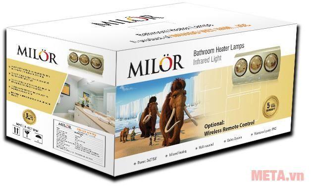 Đèn sưởi nhà tắm 3 bóng Milor ML6003