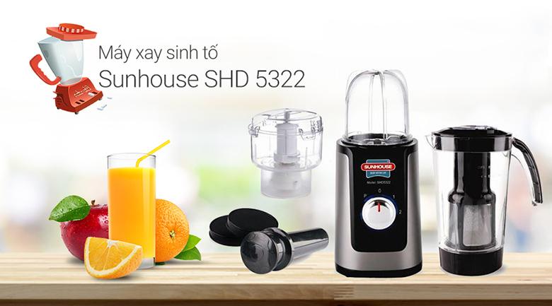 Máy xay sinh tố Sunhouse SHD 5322 Đen