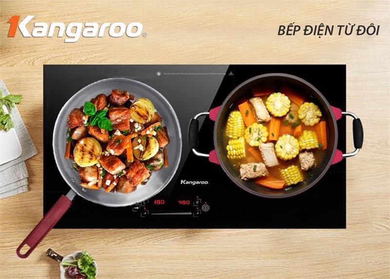 Bếp điện từ đôi Kangaroo KG438I 3.500W