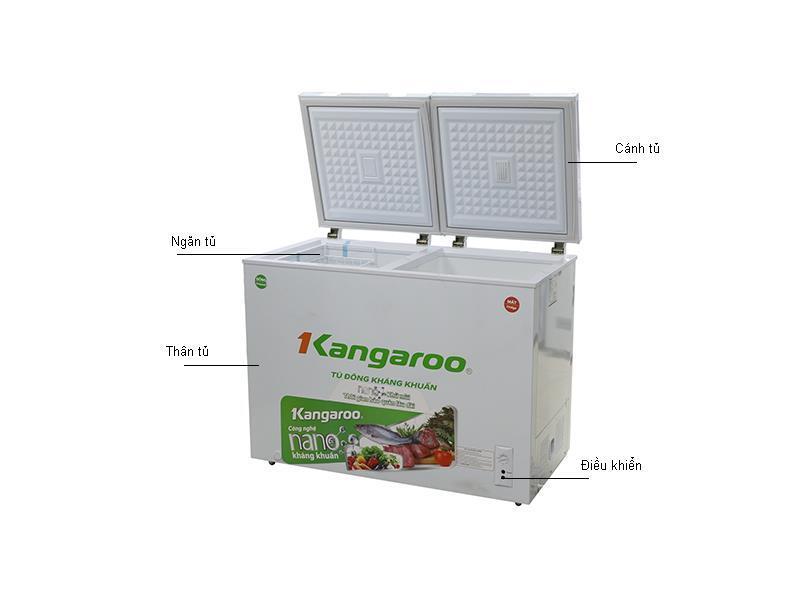 Tủ đông Kangaroo KG 236C2 - 236L, 2 ngăn đông và mát