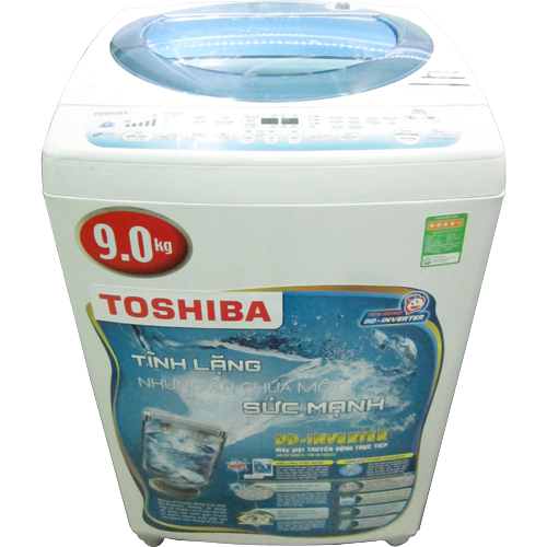 Máy giặt 9 Kg Toshiba DC1000CV(WM), lồng đứng, Inverter, xám bạc