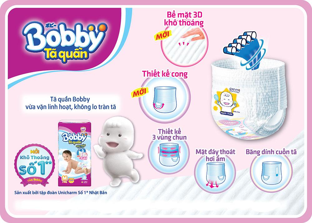 Bỉm - Tã quần Bobby size XXL 44 miếng (cho bé