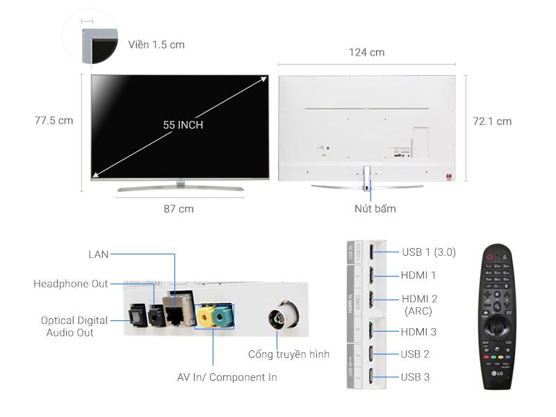 Smart Tivi LG 55 inch 55UH850T