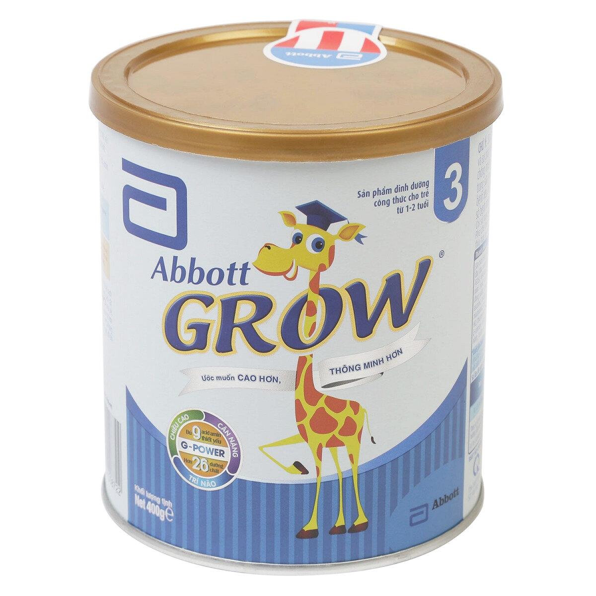 Sữa bột Abbott Grow 3 – hộp 400g (dành cho trẻ từ 1 – 3 tuổi)