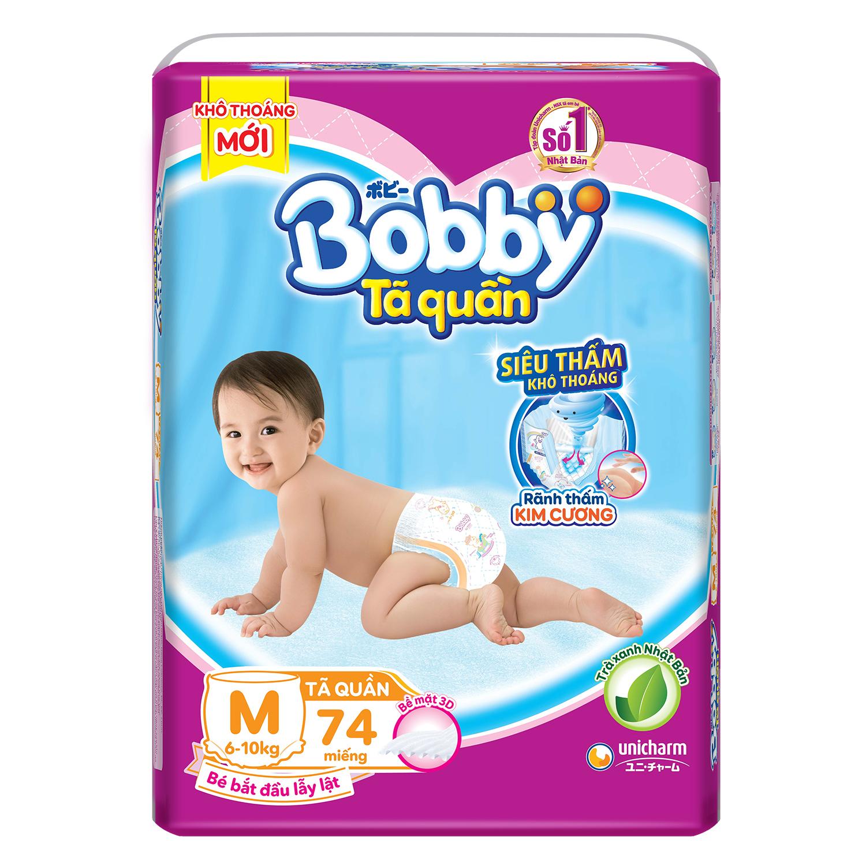 Bỉm - Tã quần Bobby Fresh size M 74 miếng (cho bé 6 - 10kg)