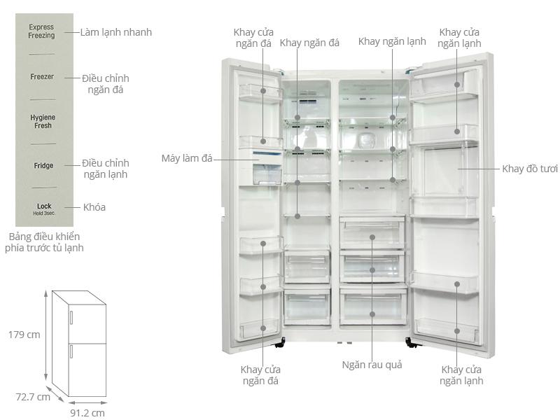 Tủ lạnh LG 629 lít GR-H267LGW