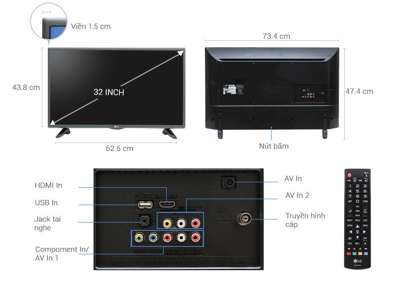 Tivi LG 32 inch 32LH512D