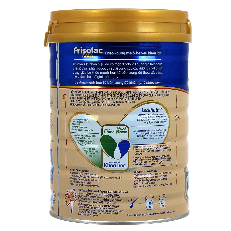 Sữa Frisolac Gold 3 900g (1  -2 tuổi)