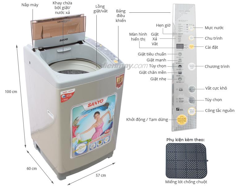 Máy giặt Sanyo ASW-U90NT 9kg