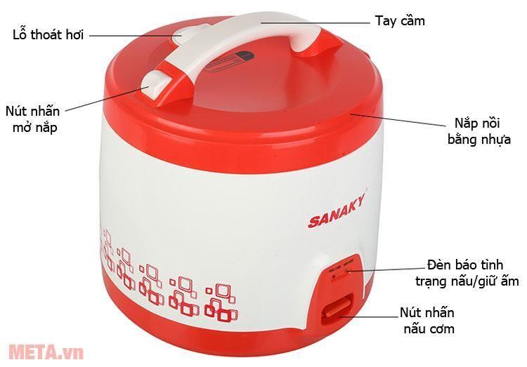 Nồi cơm điện Sanaky SNK 184T 1,8 lít