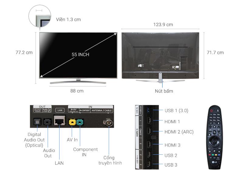 Smart Tivi LG 55 inch 55UH770T