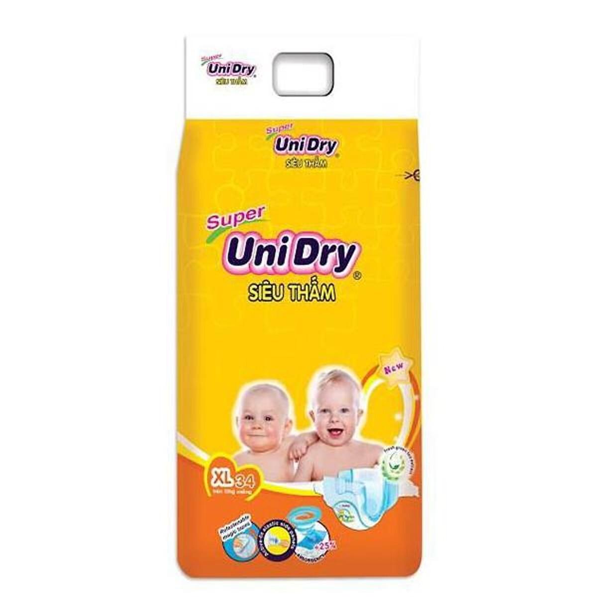 Bỉm - Tã dán Unidry size XL 34 miếng (cho bé