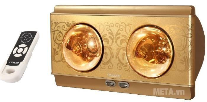 Đèn sưởi nhà tắm 2 bóng có điều khiển Heizen HE2BR