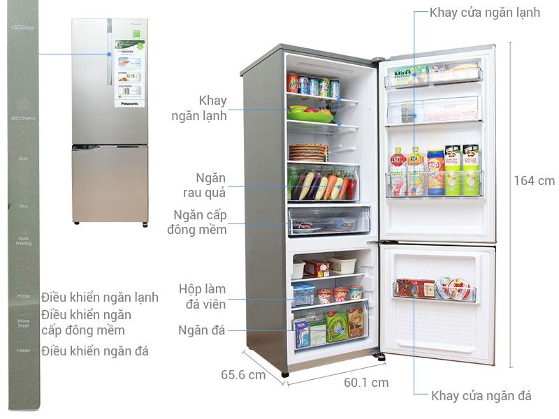Tủ lạnh Panasonic 290 lít NR-BV328XSVN