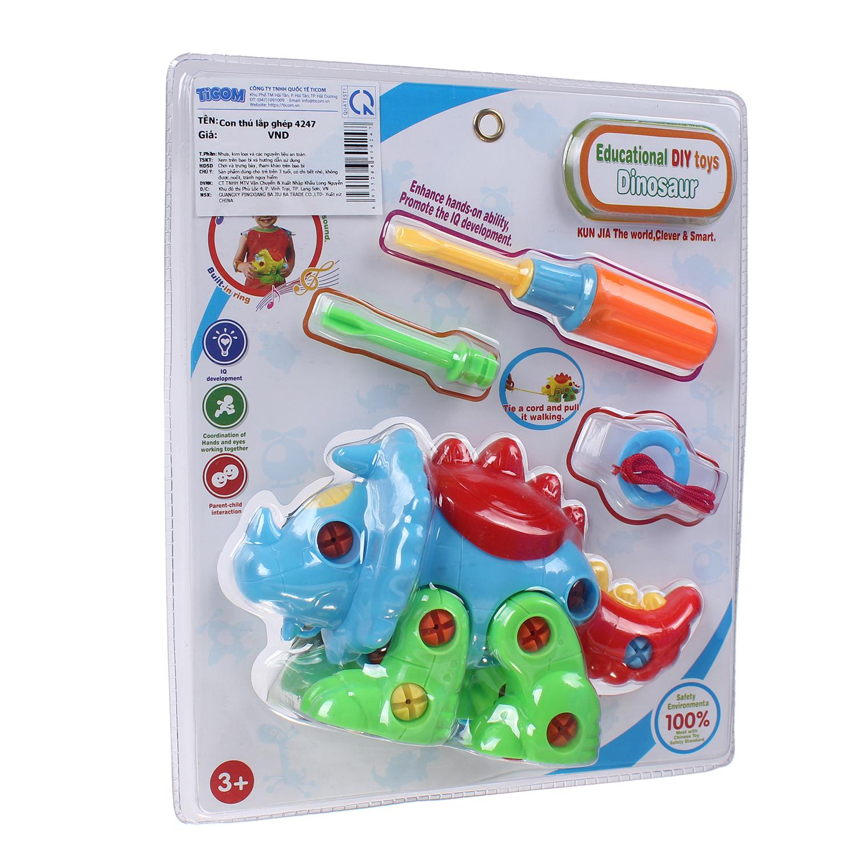 Đồ chơi nhựa thú lắp ghép 4247