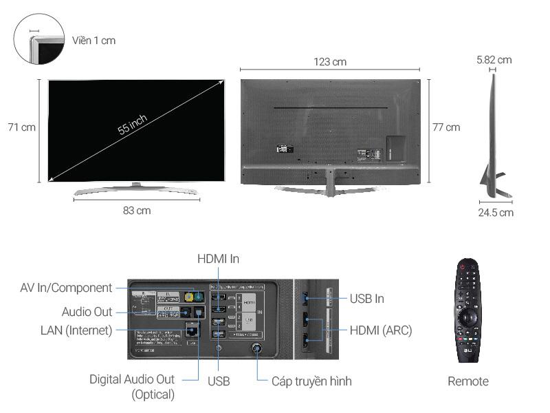 Smart Tivi LG 55 inch 55SJ800T