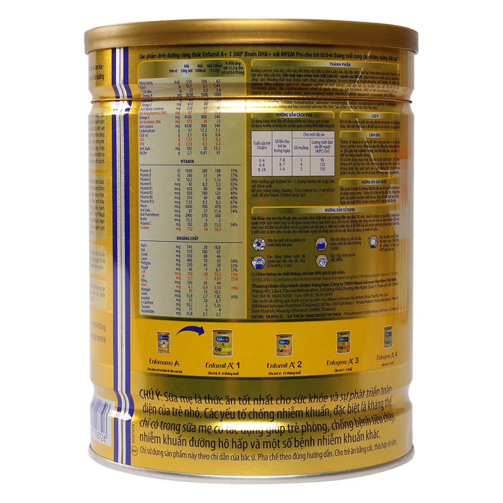 Sữa Enfamil A  1 900g (0 - 6 tháng)