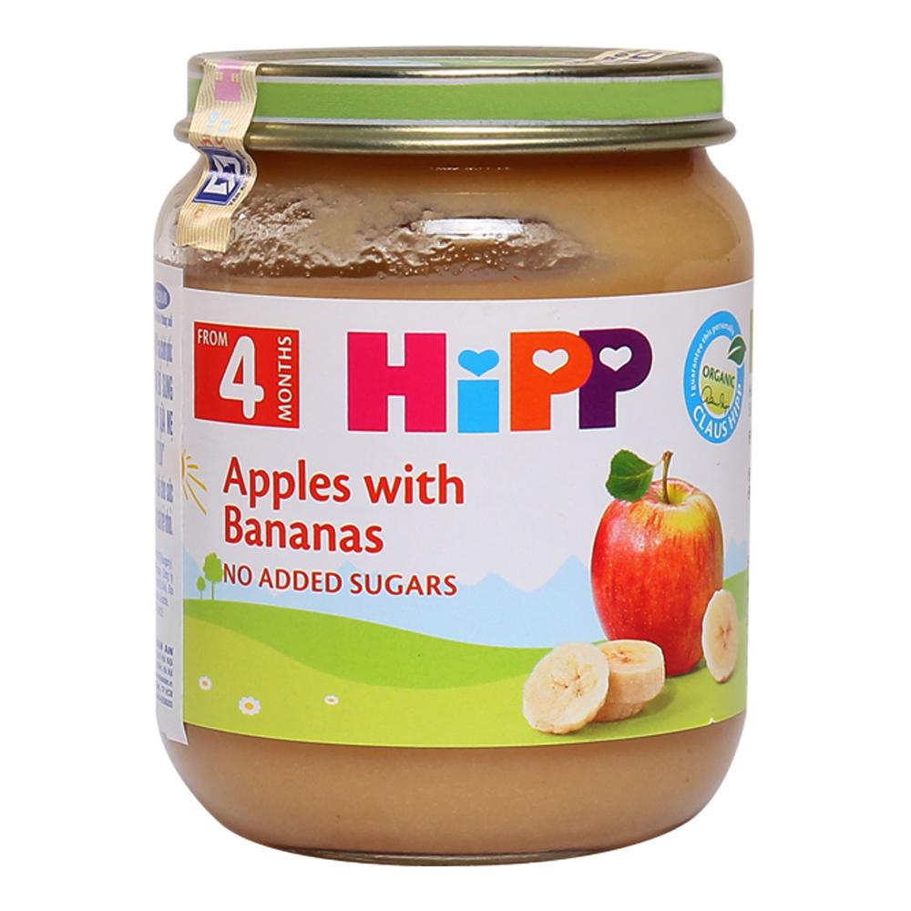 Dinh dưỡng đóng lọ HiPP vị chuối táo 4210 (125g)