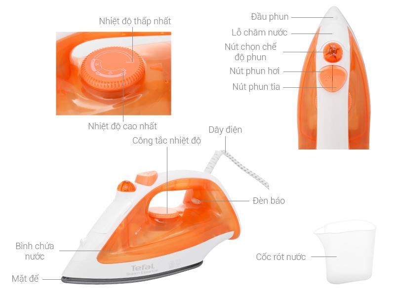 Bàn ủi hơi nước Tefal FV1022T0