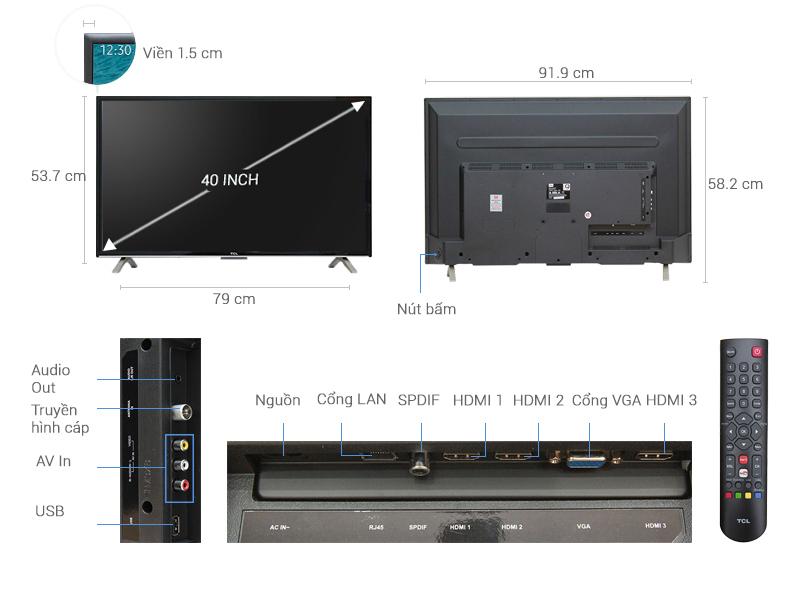 Internet Tivi TCL 40 inch L40D2790