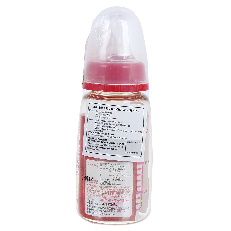 Bình sữa Chuchu 150ml (nhựa PPSU)