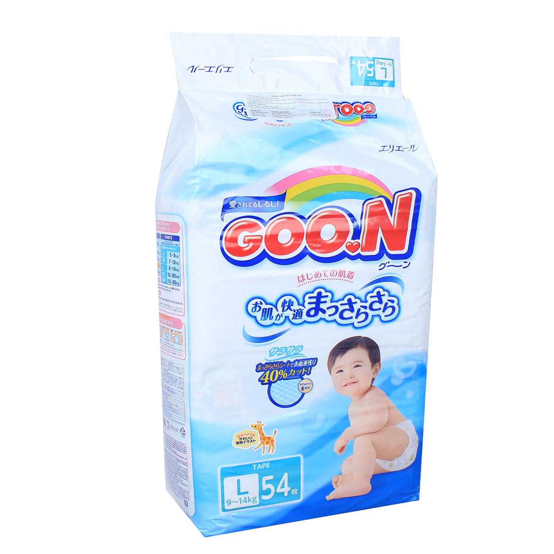 Bỉm - Tã dán Goon size L 54 miếng nội địa (cho bé 9-14kg)
