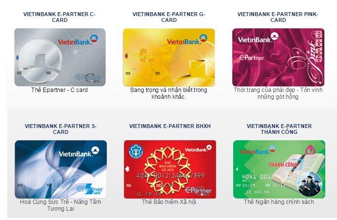 Các loại thẻ ATM ngân hàng Vietinbank hiện nay