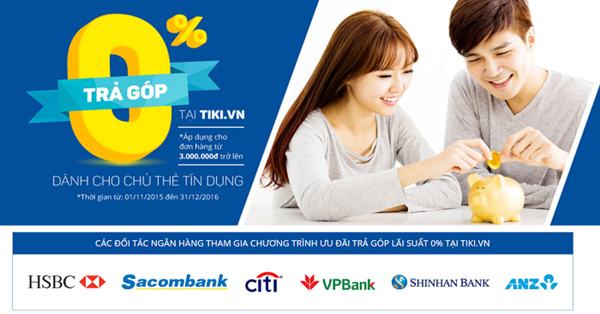 Cách đặt mua hàng trả góp bằng thẻ tín dụng trên Tiki: có nên mua trả góp trên Tiki không?