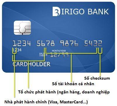 Ý nghĩa các số trên thẻ tín dụng